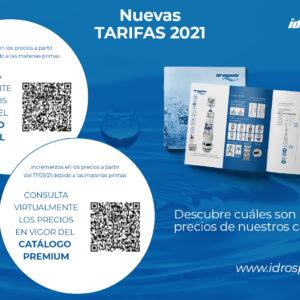 Nuevas tarifas de Idrospania